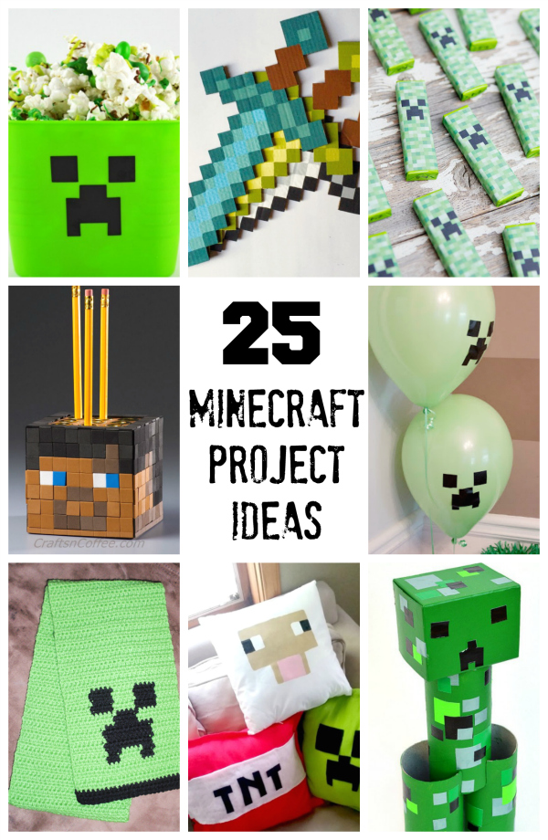 Charming Craft Ideas For Kids Videos Part - 14: 25 Minecraft Projects Kids Will Love