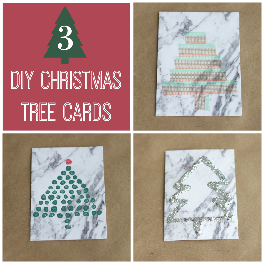 3 DIY Christmas Tree Cards