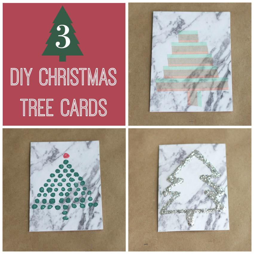 3 DIY Christmas Tree Cards