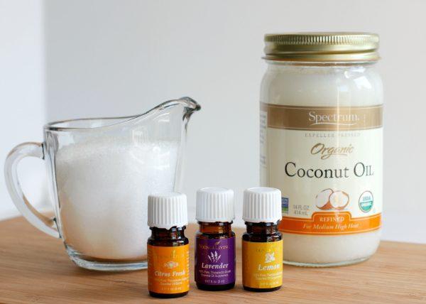 3 Ingredient Coconut Oil Salt Scrub