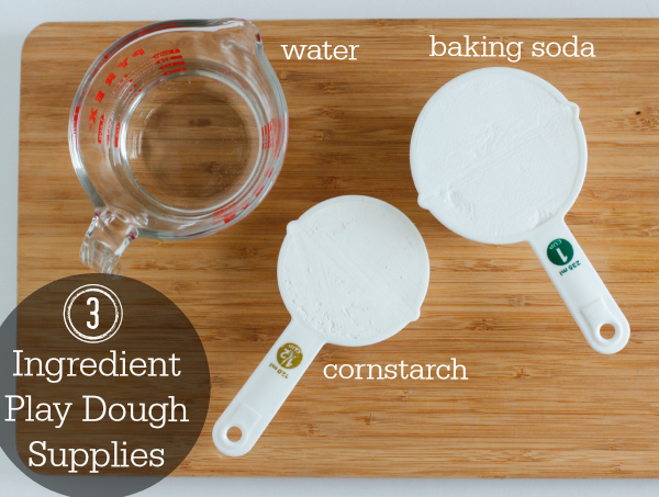 3 Ingredient Play Dough Supplies in 5 Minutes