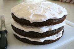 3rd layer chocolate cake