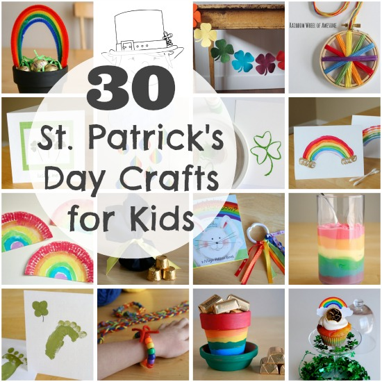 30 St. Patrick's Day Crafts for Kids to Make @makeandtakes.com