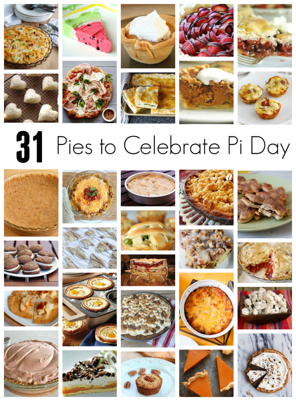 31 Pies to Celebrate National Pi Day