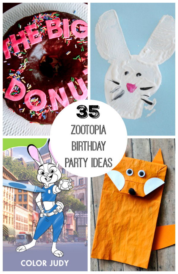 35+ Zootopia Birthday Party Ideas