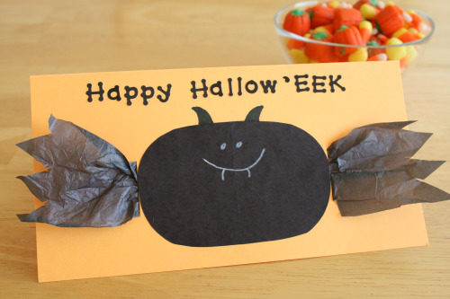 3D Halloween Bat Card