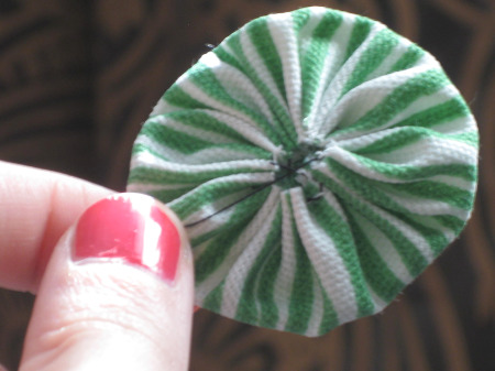 Yo Yo Fabric Flower