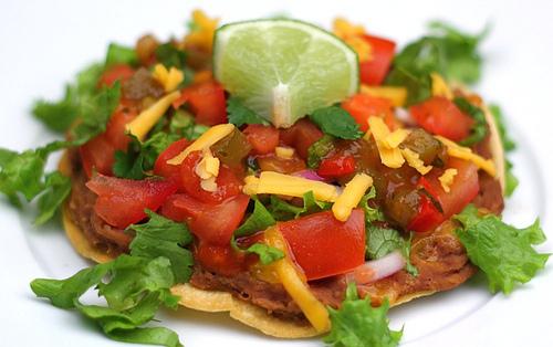 Simple and Healthy Veggie Tostadas