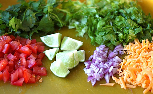 Simple and Healthy Veggie Tostada Ingredients