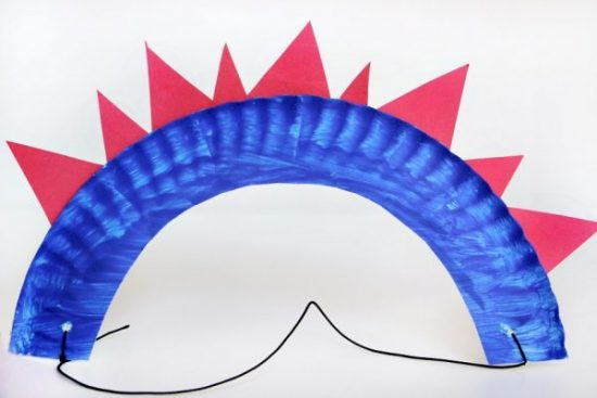 Paper Plate Flag Crowns