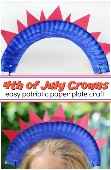 4th of July Craft: Paper Plate Crowns