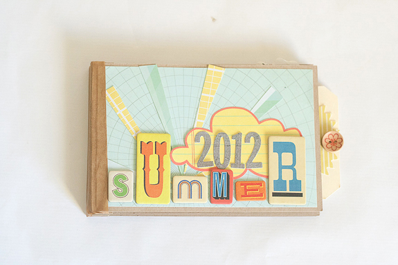 Make a Mini Paper Album From Scratch for Summer