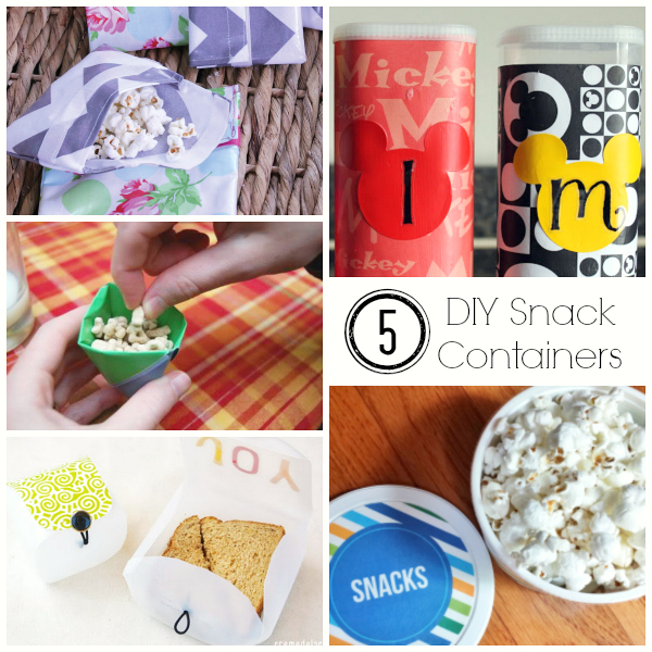 5 DIY Snack Containers