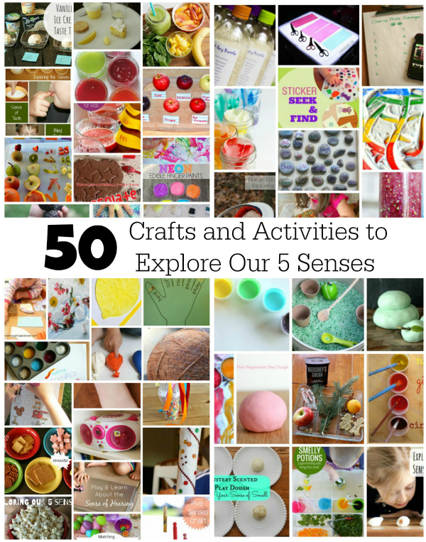 50 Crafts and Activities to Explore Our 5 Senses | Make and Takes