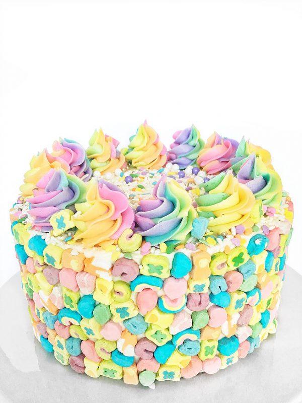 Almond Pistachio Rainbow Cake