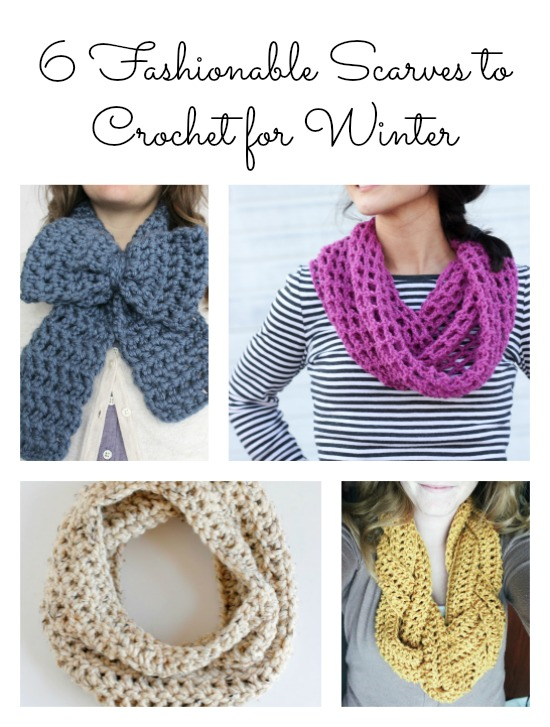 6 Fashionable Scarves to Crochet for Winter