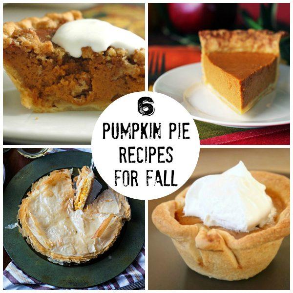 6 Pumpkin Pie Recipes for Fall