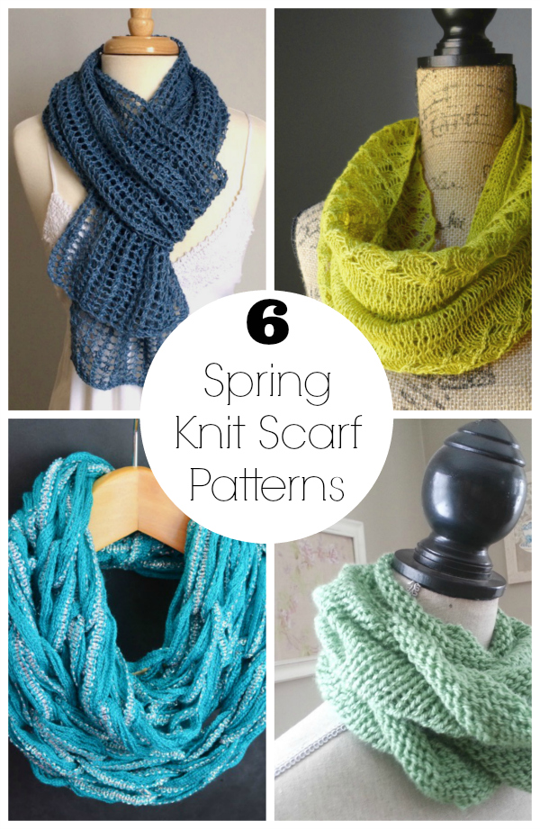 6 Spring Knit Scarf Patterns