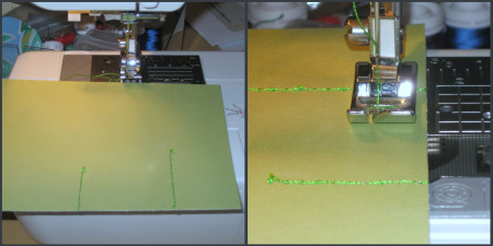 Sewing on Paper Cardstock