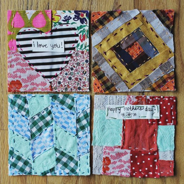 Quilted Mother's Day Greeting Cards