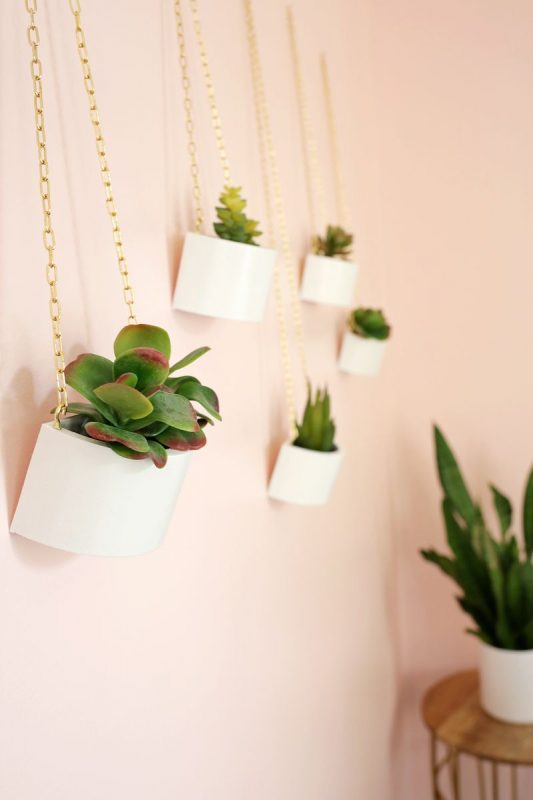Wooden Box Hanging Planter