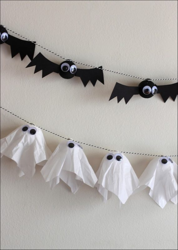 DIY Bat & Ghost Garlands