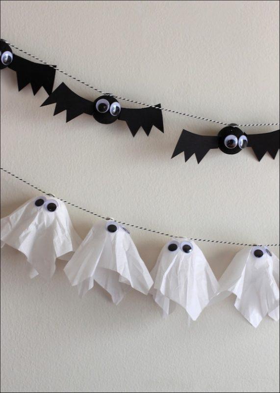Diy Bat Ghost Garlands
