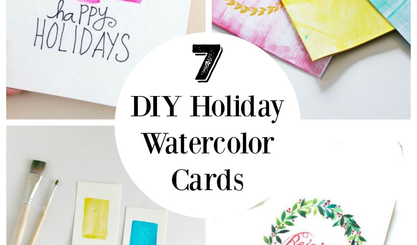 7 DIY Holiday watercolor cards to make