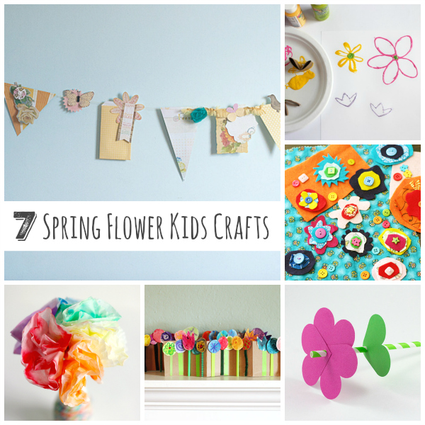 7 Sweet Spring Flower Kids Crafts