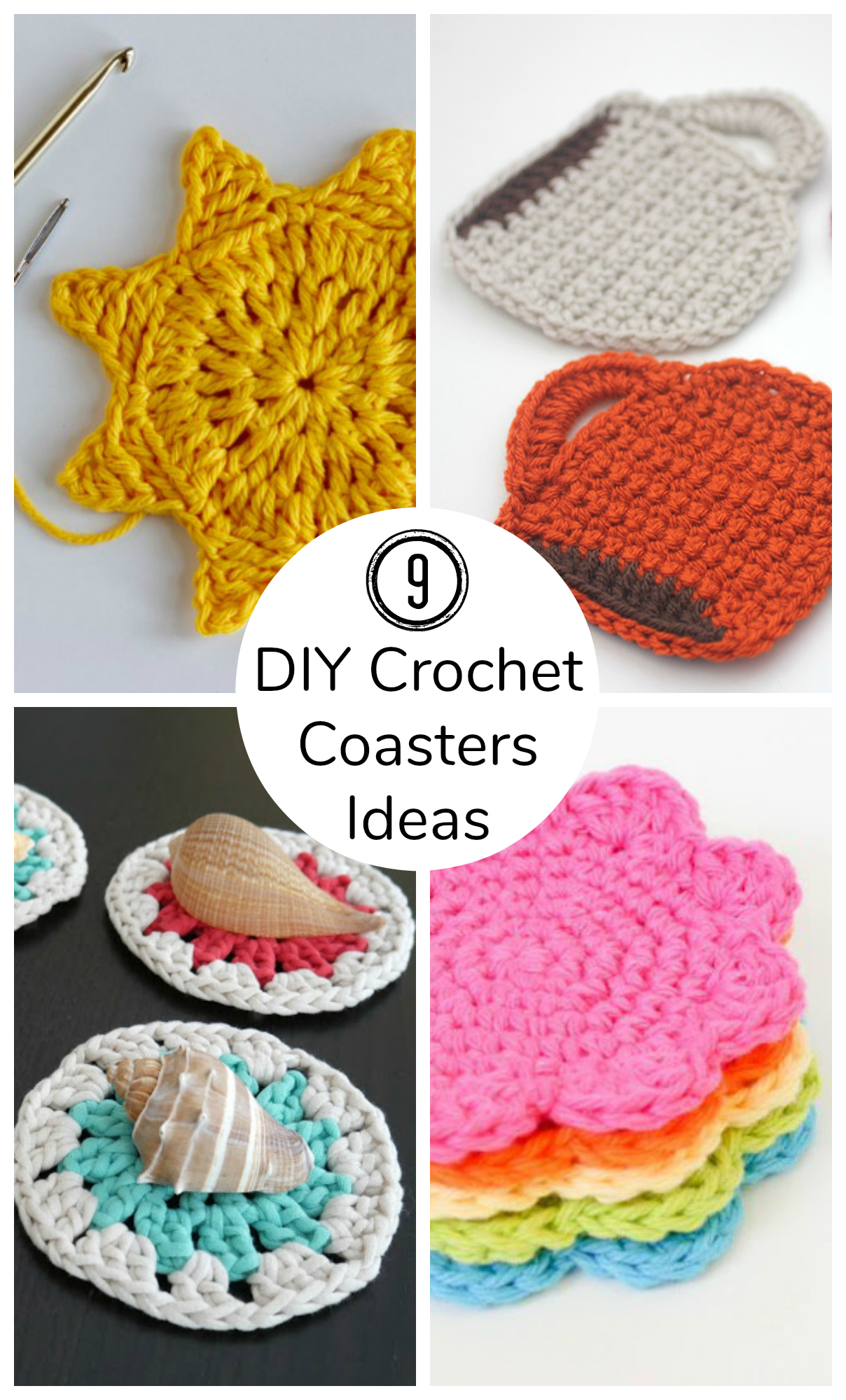 9 DIY Crochet Coasters Ideas to Make