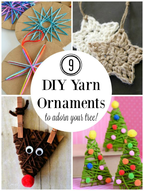 9 DIY Yarn Ornaments to Adorn Your Tree