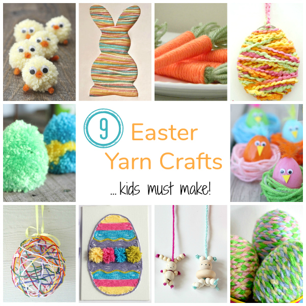 9 Easter Yarn Crafts Kids Must Make
