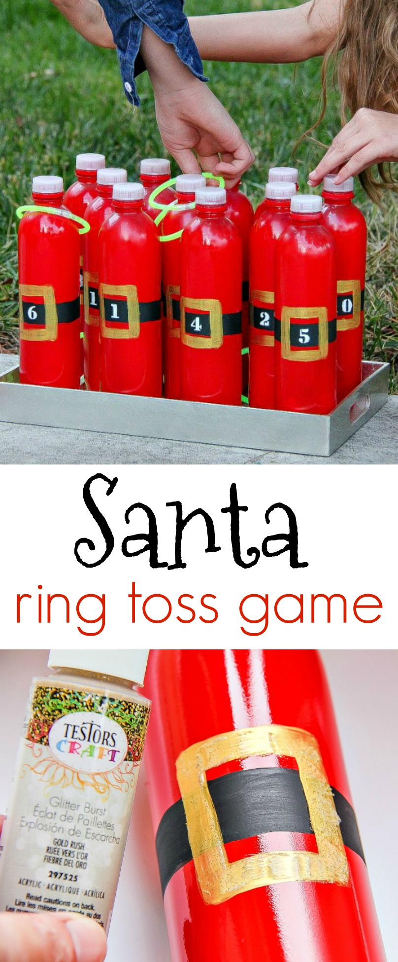 DIY Santa Ring Toss