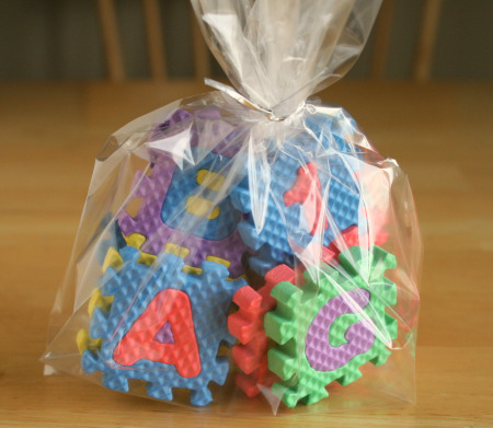 ABC Block BIrthday Party Bags