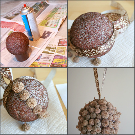 Using up our fallen acorns make and takes for Home decor crafts