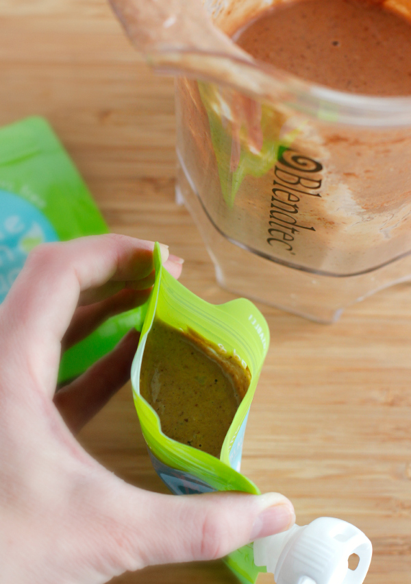 Adding Pudding to Little Green Pouches