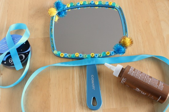 Adding Ribbon to a Mirror Craft
