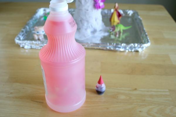Adding Vinegar to a Homemade Volcano