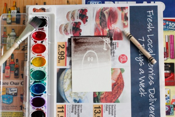 Adding Watercolor to Crayon @makeandtakes.com