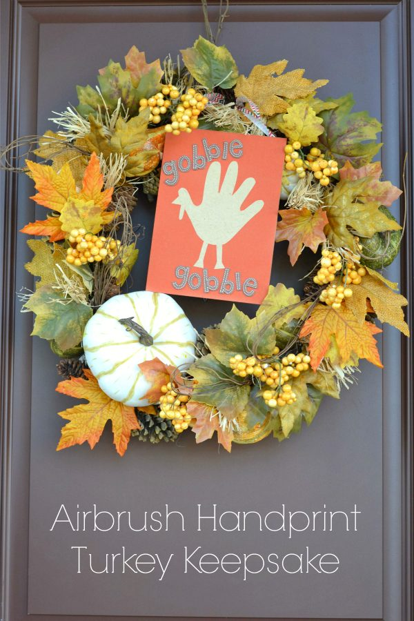 Airbrush Handprint Turkey Keepsake