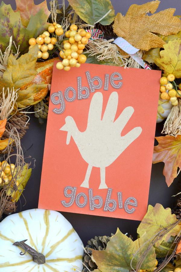 Airbrush Handprint Turkey Keepsake Decor