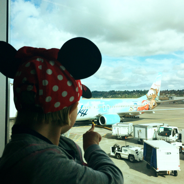 Alaska Airlines Disneyland Airplane