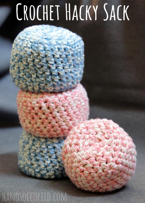 Amigurumi Crochet Hacky Sack Pattern by handsoccupied.com for @makeandtakes.com #crochetaday