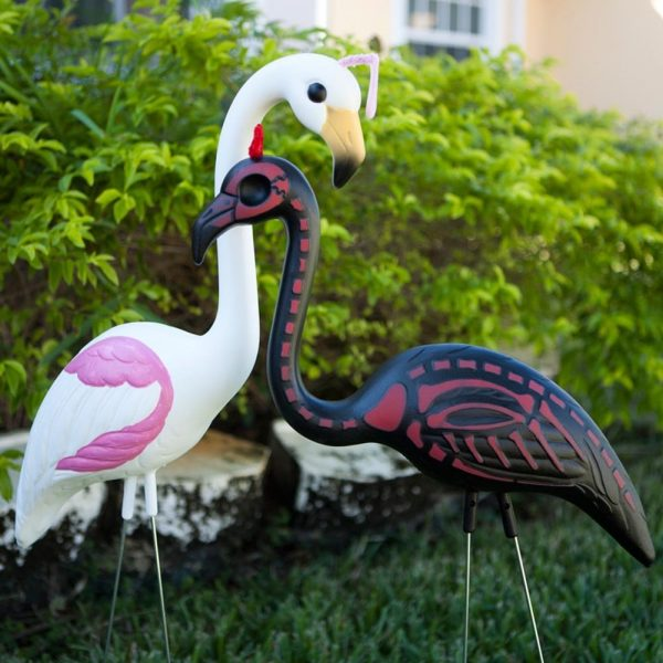 Pink Flamingos Halloween Angel Makeover