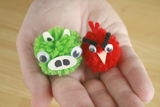 Angry Bird Pom Pom Craft