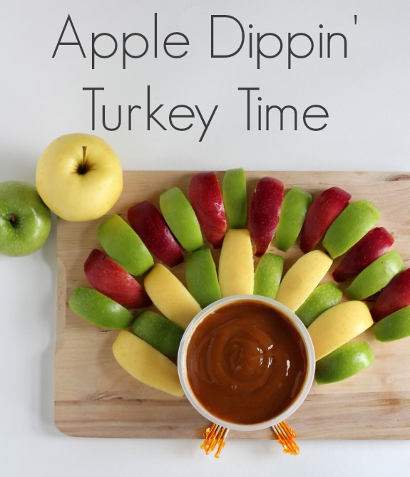 Apple Dipping Thanksgiving Turkey Platter makeandtakes.com