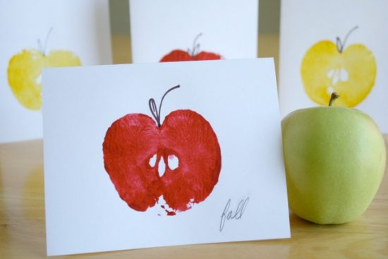 Apple Stamped Cards