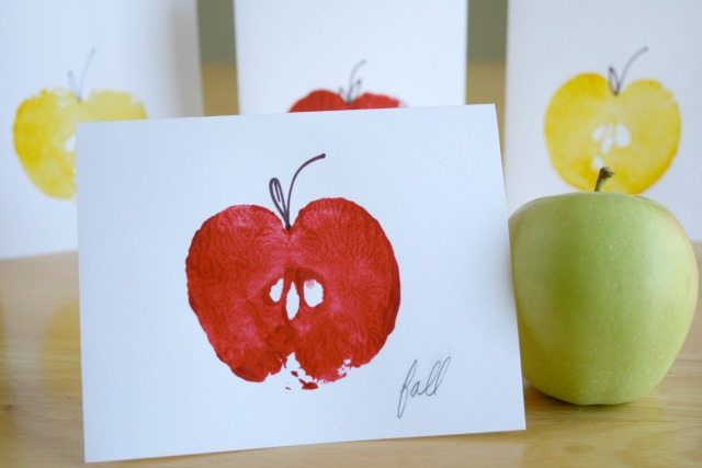 Apple Stamping Cards for Teacher