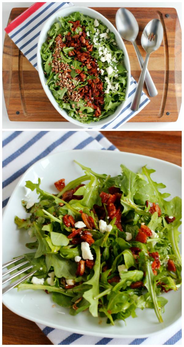 Arugula Salad Recipe with Bacon Vinaigrette