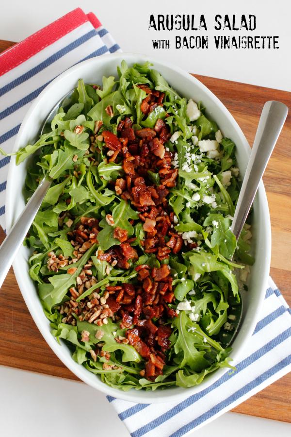 Arugula Salad with Bacon Vinaigrette